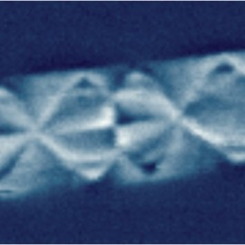 Magnetic domains on cobalt stripes