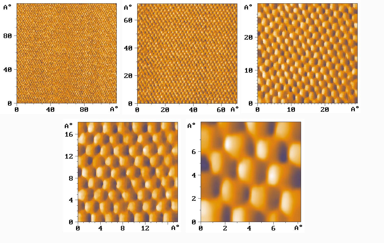 HOPG atomic lattice